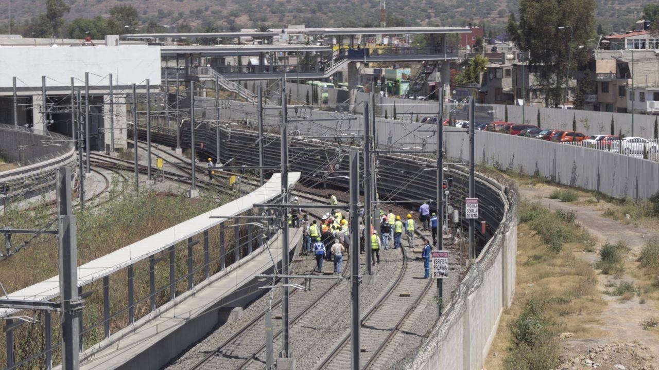 Construcción de la Línea 12 del metro CDMX