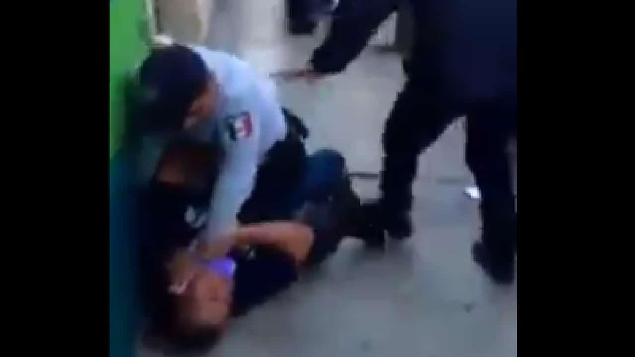 Video policías de Hidalgo sometieron a dos hombres y una mujer