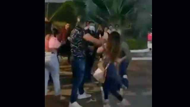 Hombre golpea mujer Chiapas
