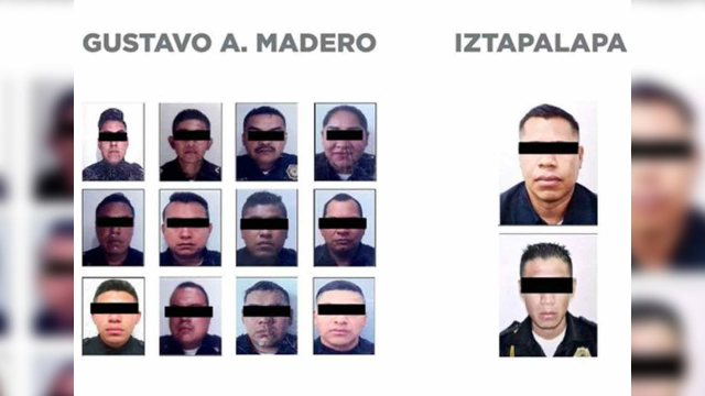 Policias detenidos CDMX extorsion robo