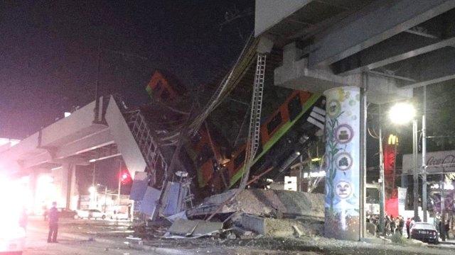 Video caída metro CDMX linea 12