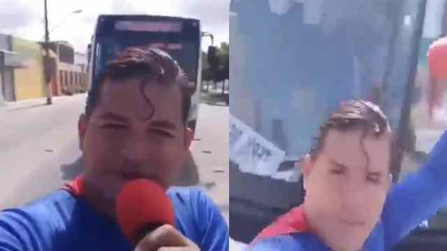 Video comediante disfrazado Superman fue atropellado