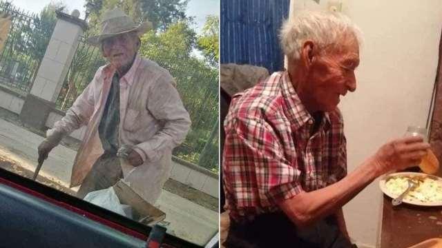 abuelito 108 años situación calle Torreón