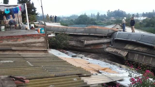 Tren se descarriló en Tala, Jalisco