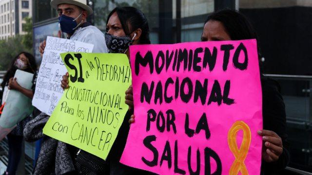 Marcha Nacional desabasto de medicamentos para atender cáncer
