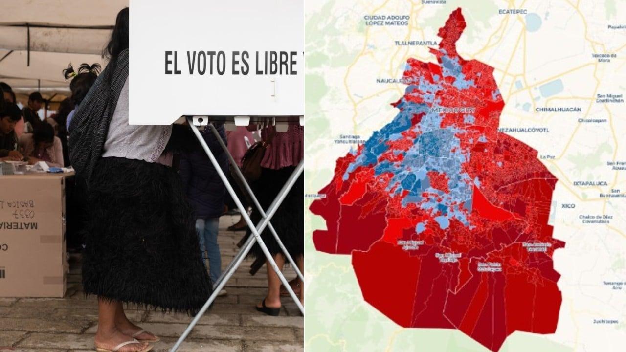 Mapa interactivo CDMX elecciones 2021