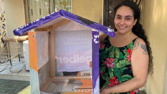 Mariana hace casas para perros basura electoral