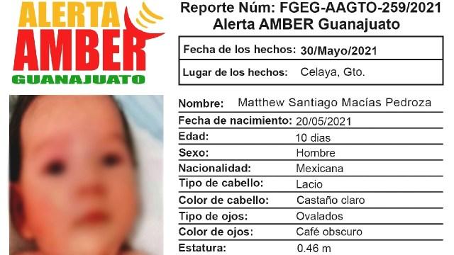 Robo falso bebé Guanajuato Fiscalía