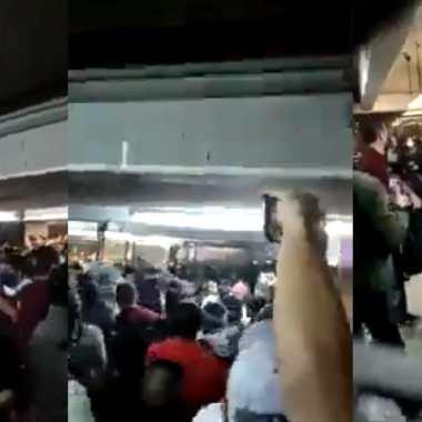 Pelea en Pantitlán Metro CDMX