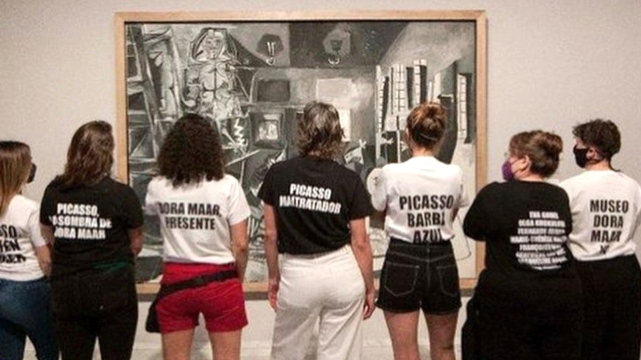 Feministas protesta museo Picasso Barcelona