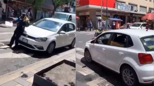 conductor atropella policía infracción CDMX