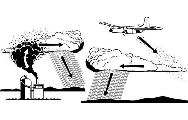 Aviones de la Fuerza Aérea bombardearán nubes sequia