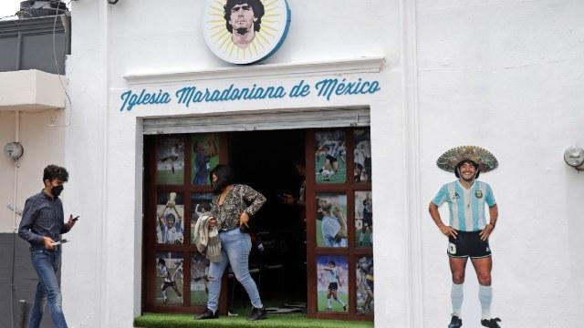Abrieron Iglesia Maradoniana en Puebla