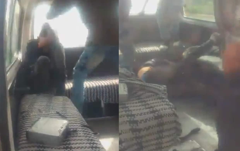 Usuarios de combi golpean a presunto ladrón en Edomex