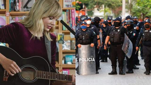 policías usan música de Taylor Swift para evitar ser grabados