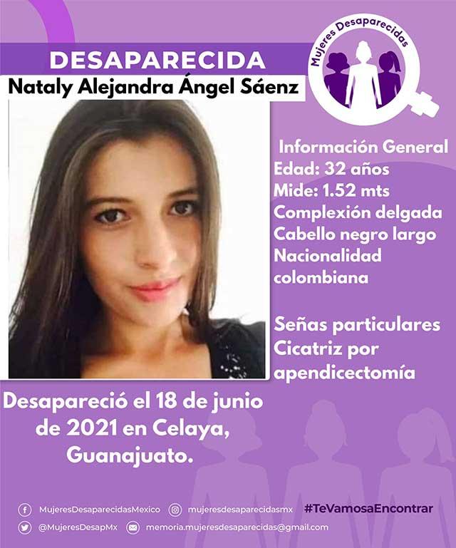 Buscan a Nataly Alejandra, joven colombiana que viajó a Celaya por trabajo