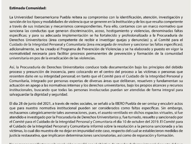 Ibero Puebla Alumnas Acusan Abuso Sexual Masivo
