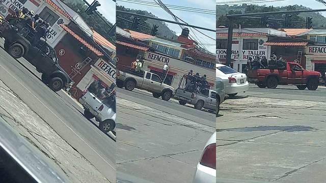 Grupo de civiles armado recorrió las calles Pátzcuaro