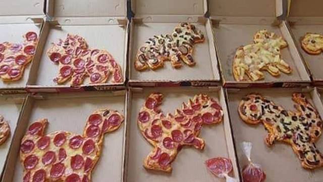 Pizzasaurios Pizzas con forma de dinosaurios en Yucatán
