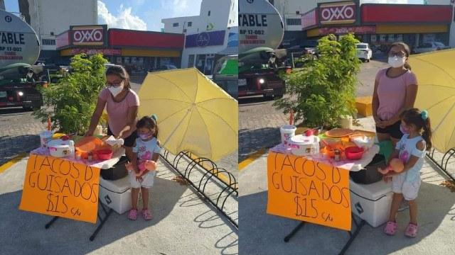 Maya vende tacos de canasta para pagar su carrera