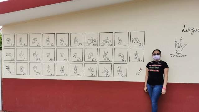 Mural lengua de señas mexicana