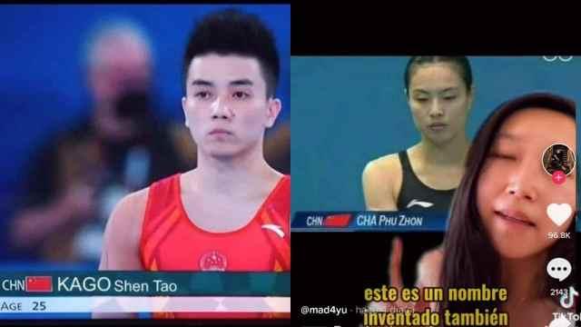 inventan nombre de atletas chinos en televisión de España