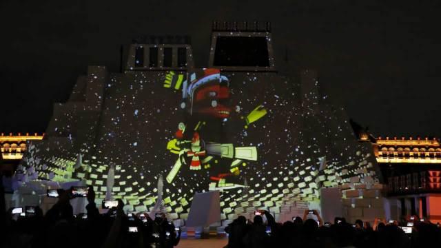 Inauguración de maqueta del Templo Mayor en el Zócalo