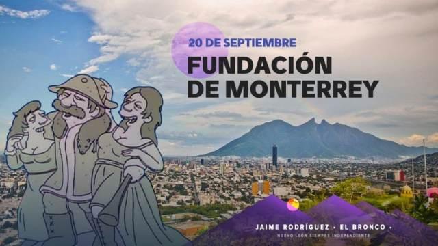 El Bronco usa personajes de os Simpson para festejar fundación de Monterrey