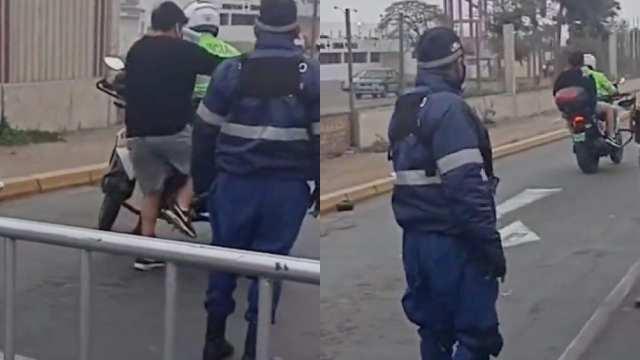 Policía dio aventón a un estudiante