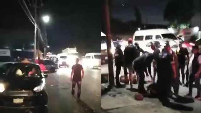 VIDEO: Pasajeros linchan a presuntos asaltantes en la México-Texcoco