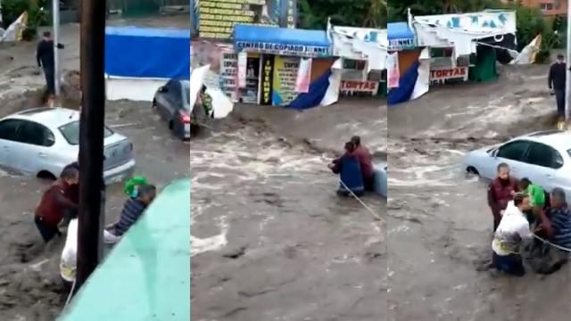 Salvaron a bebé de inundaciones de Ecatepec