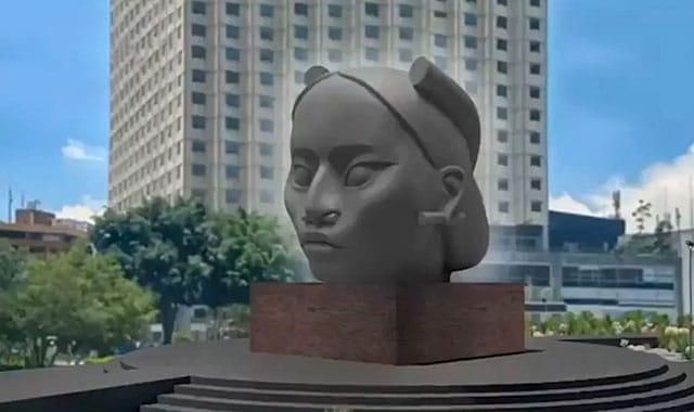Tlali: La estatua de la mujer olmeca que sustituirá a la de Cristóbal Colón