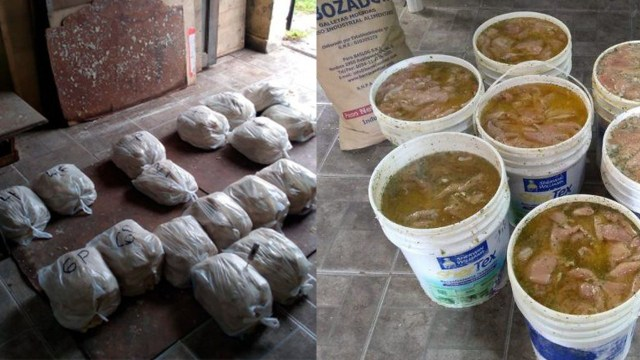 Para que agarren sabor: clausuran carnicería que guardaba milanesas en botes de pintura