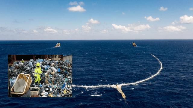 Ocean Cleanup extrae 20,000 libras de basura del parche de basura del Pacífico