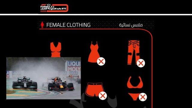 El polémico código de vestimenta de Fórmula 1