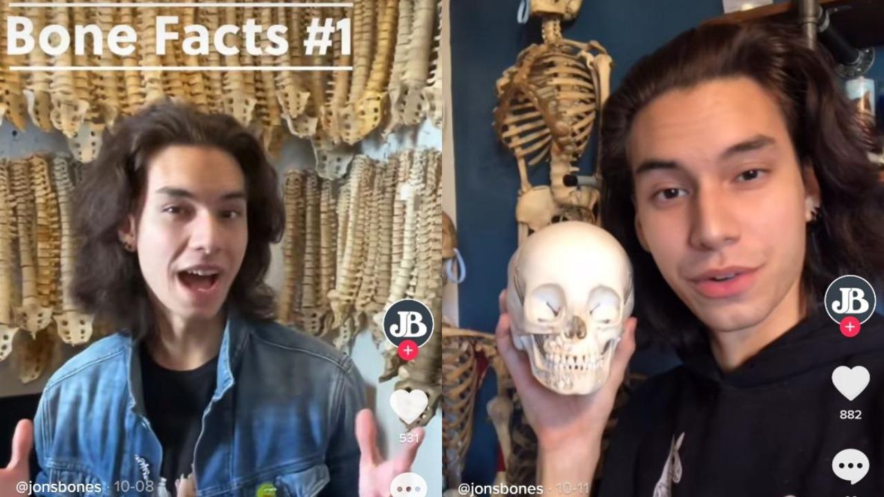 Tiktoker causa polémica por vender huesos humanos en internet