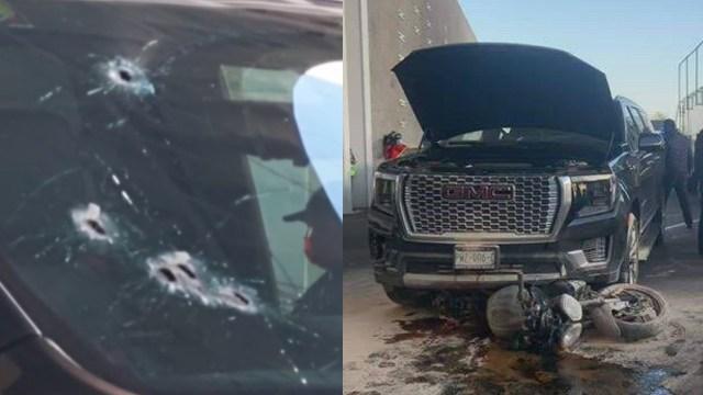 Circula video del presunto asaltante abatido duranta la balacera en inmediaciones del AICM