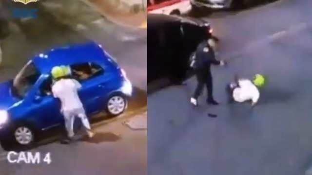 Video: policía dispara contra asaltante y frustra robo en Iztacalco