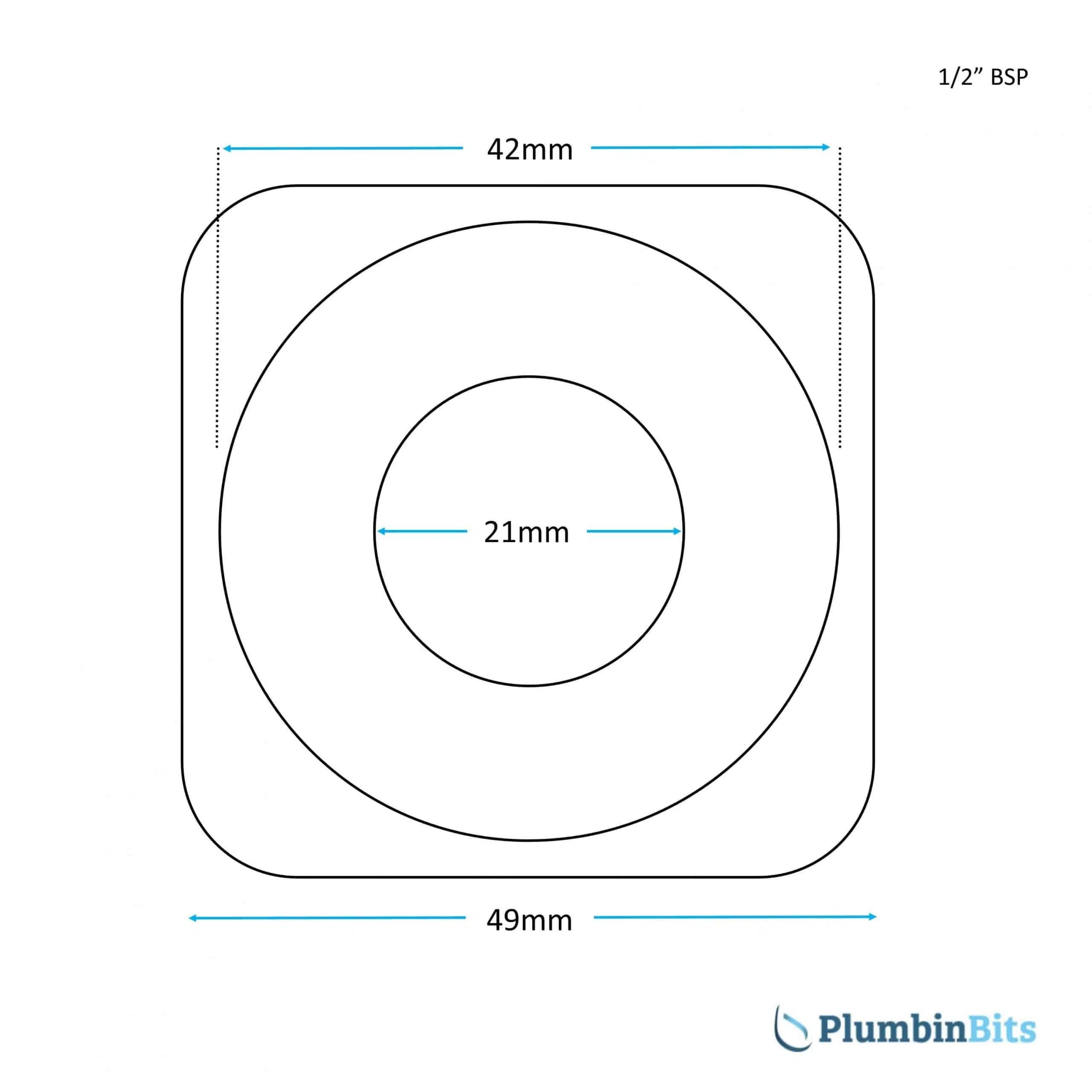 Pair Of 1 2 Plastic Top Hat Spacer Tap Fixing Washer Plumbinbits
