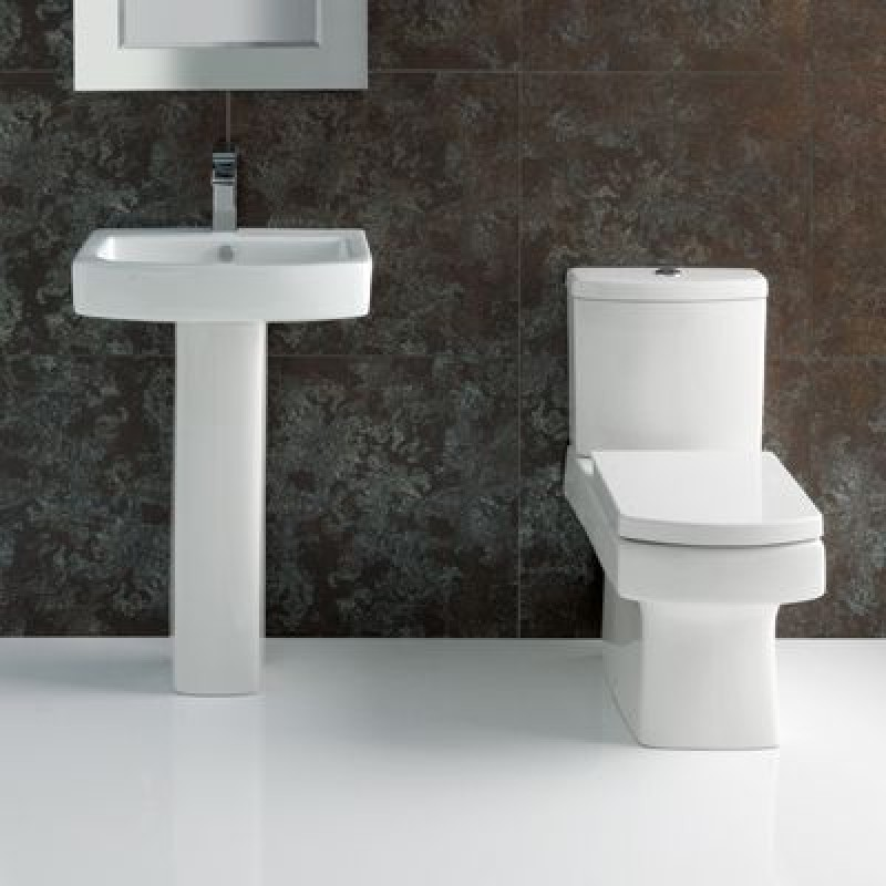 Embrace Square Toilet And Sink Suite Plumbing And Heating Nation