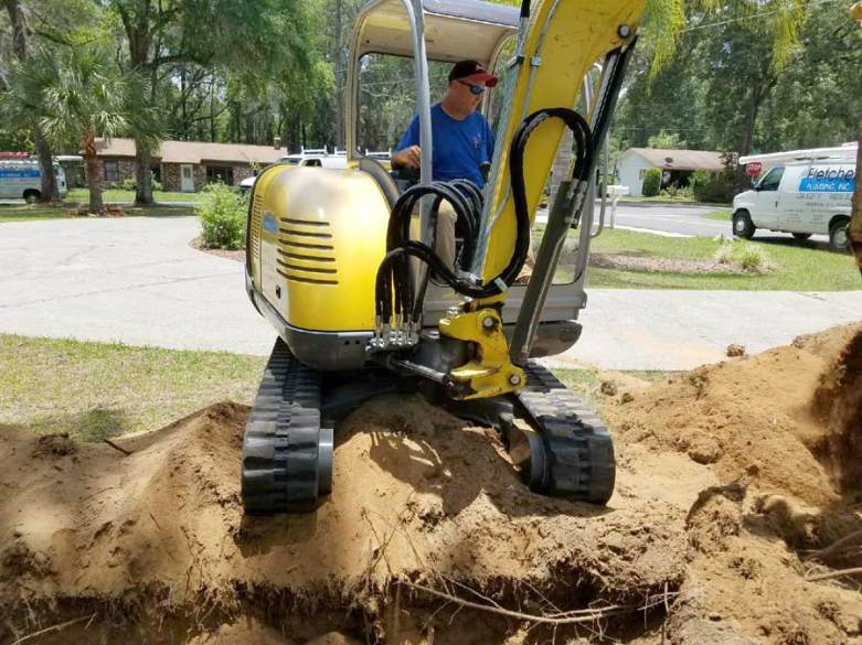 Fletcher Plumbing excavates old septic tanks for City of Ocala