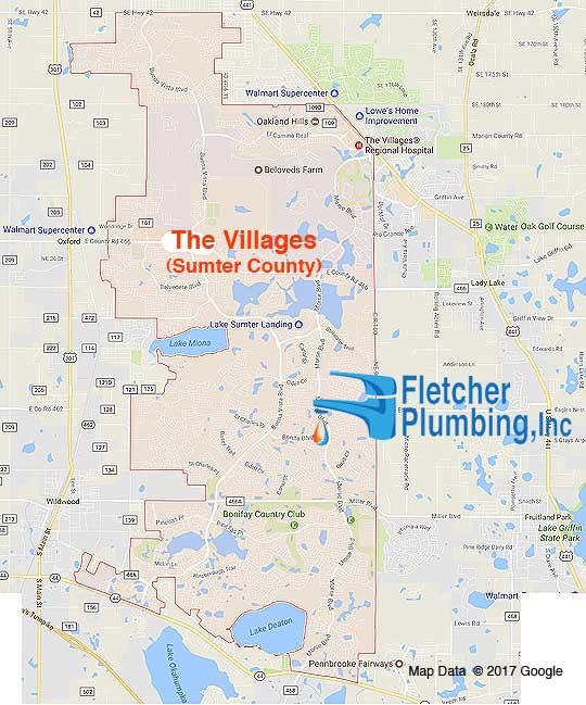 The Villages Fletcher Plumbing Service Area