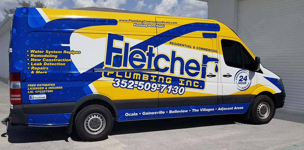 Fletcher Plulmbing New Trucks