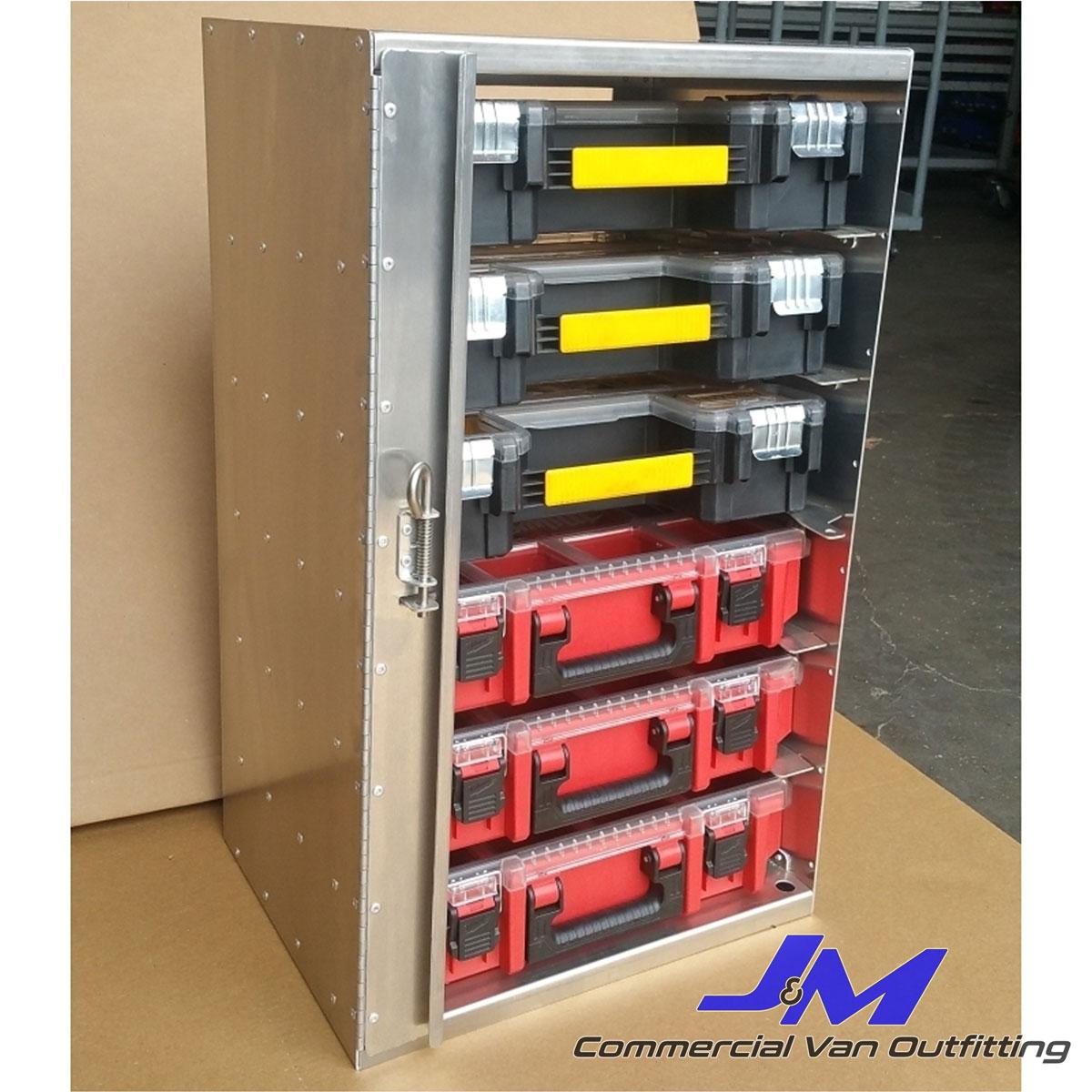 parts organizer tower fits 6 dewalt milwaukee bins sku 030004