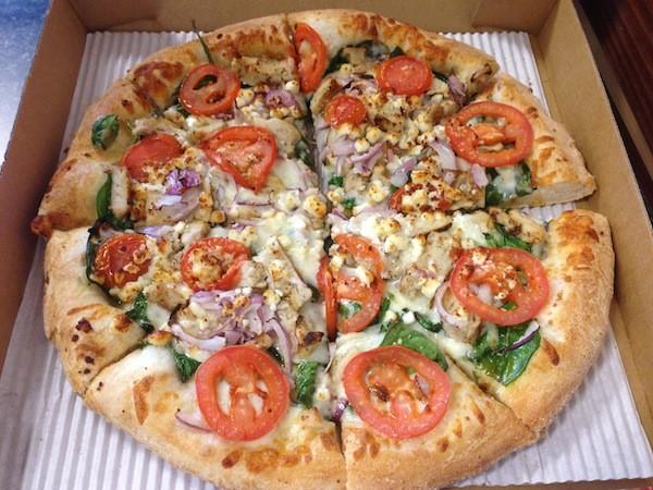 grilled florentine pizza