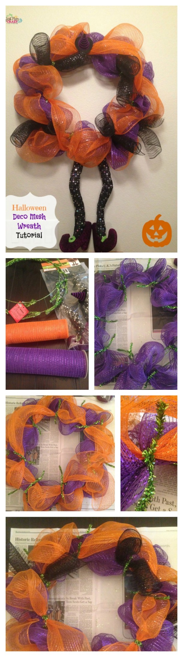 Deco mesh halloween wreath tutorial just plum crazy fall brings ghosts goblins apples pumpkins today we have a deco mesh baditri Images