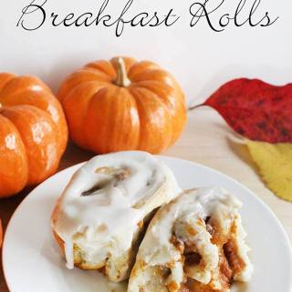 Pumpkin Pie Breakfast Rolls Day 12 #12DaysOf