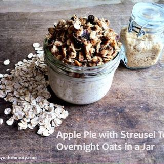 Apple Pie Overnight Oats in a Jar Day 12 #12DaysOf