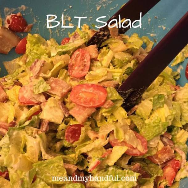 Summer is a time for picnics, bon fires with hot dog roasts, and of course hamburgers! Today we have a BLT Salad to share with you.