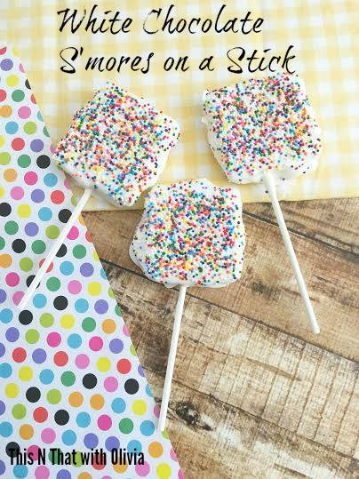 The White Chocolate S'mores on a Stick are the perfect DIY treat for you and your family to make together and enjoy this summer.